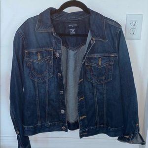 Women's True Religion Dark Jean Jacket XL NWOT
